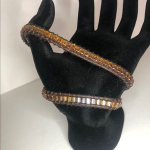 Bracelet leather & crystal CUSTOMIZE YOUR OWN!